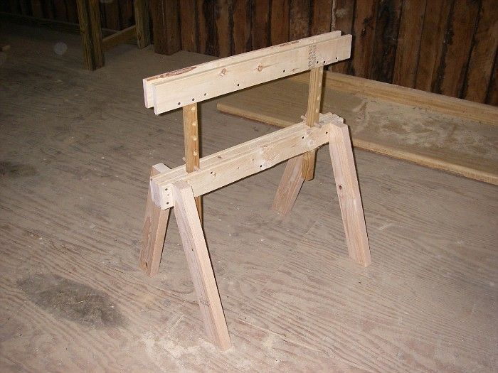 Beau Building Adjustable Height Sawhorses   Jack Booted Liberal