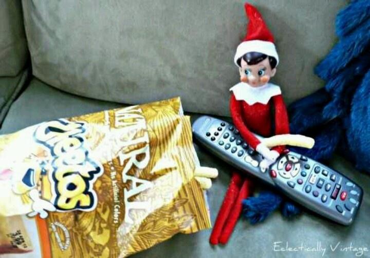 Watching tv | {Elf on the Shelf} | Pinterest