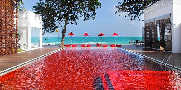 beautiful red swimming pool radical reds pinterest
