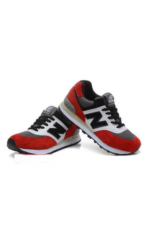 New Balance Women Running Shoes NB574 Red Black White