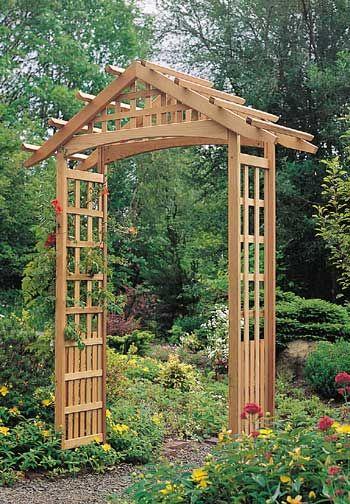 Garden arbor backyards pinterest - Backyard trellis designs photos ...