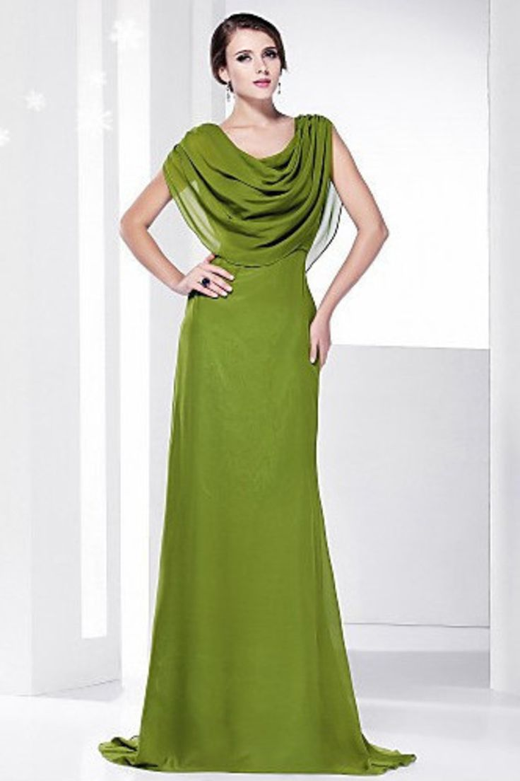cowl neck evening gowns