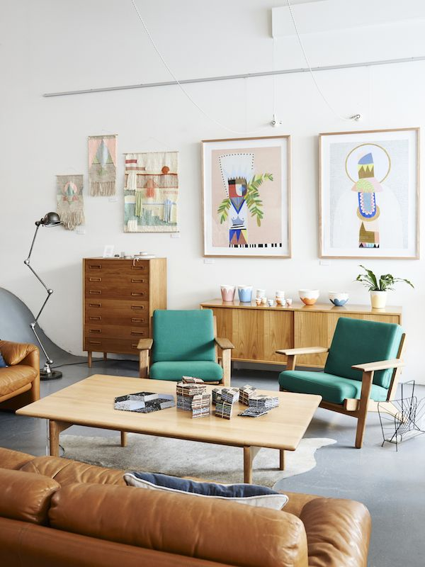 Beautiful Mid Century furniture at Modern Times in Fitzroy. Photo- Eve Wilson for The Design Files. Via @thedesignfiles