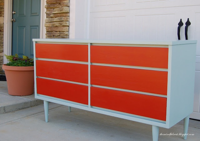painted mid century dresser painted furniture pinterest