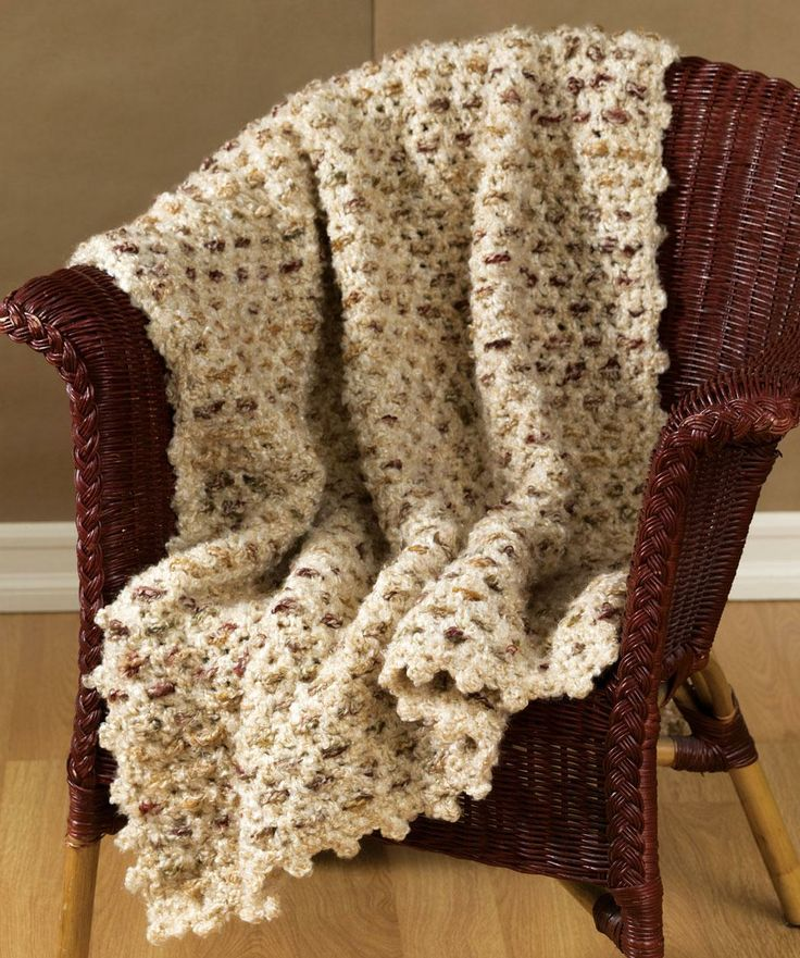 Crochet Delightful Afghan Free Pattern from Red Heart Yarns