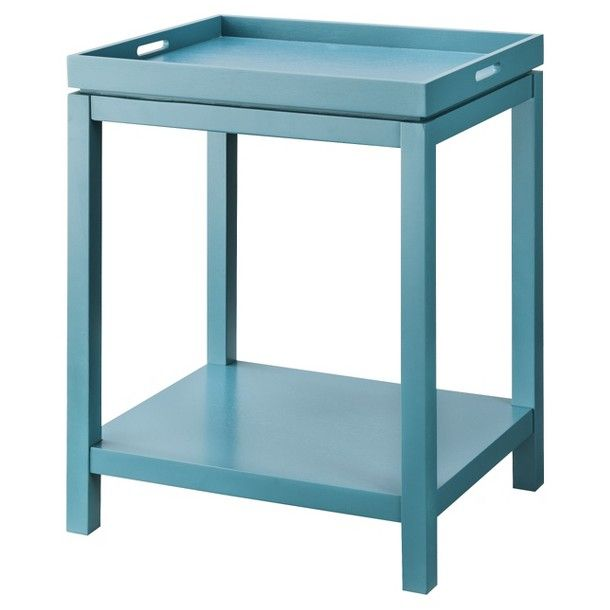 Threshold tray side table teal pad furnish pinterest for Tray side table