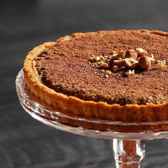 Chocolate & hazelnut tart - both the filling and crust have a hint of ...