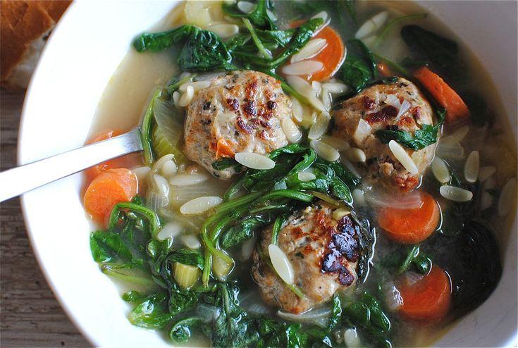Easy italian wedding soup   FOOD   Pinterest