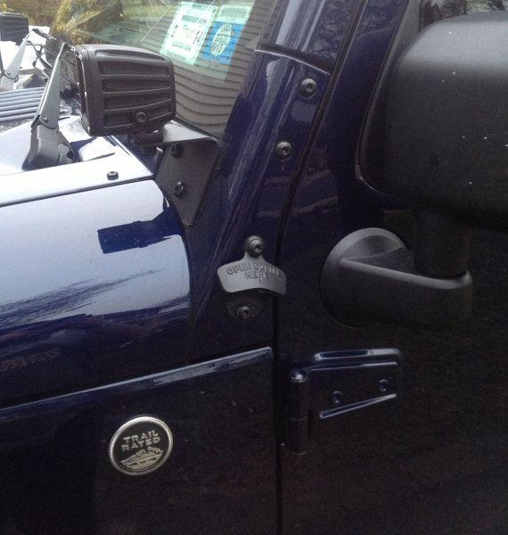 jeep wrangler jk a pillar bolt on bottle opener. Black Bedroom Furniture Sets. Home Design Ideas