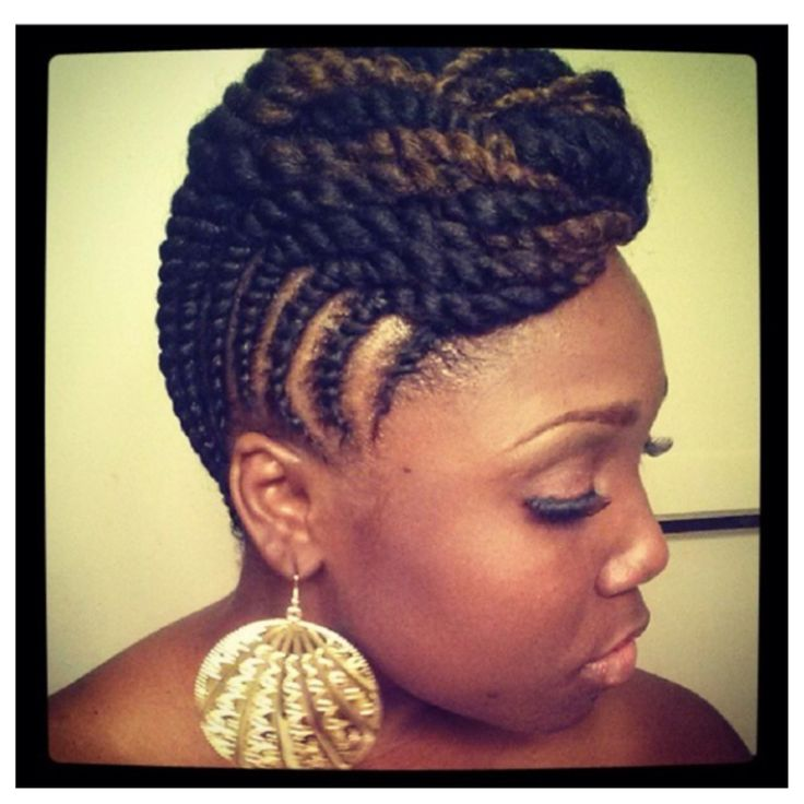 nerdy hairstyles : Beautiful natural two strand twist updo. Natural Hair Inspiration ...