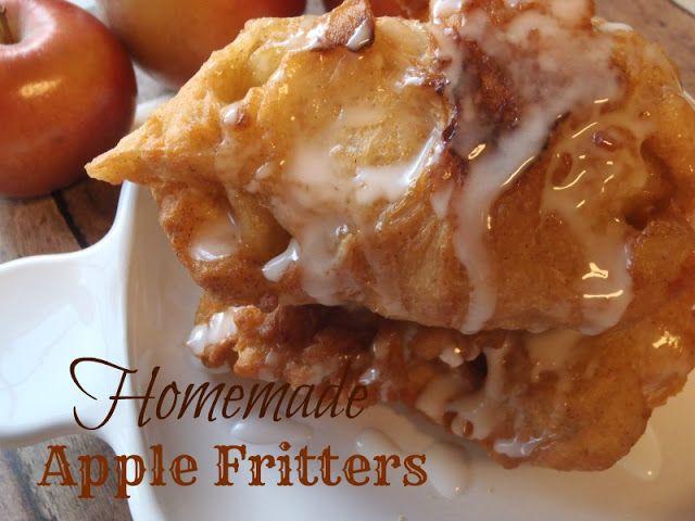 Homemade apple fritters edibles pastry pinterest