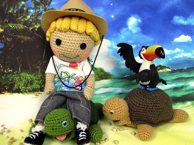 Amigurumi Hair Boy : turtle riding Amigurumi Crochet Animals Pinterest