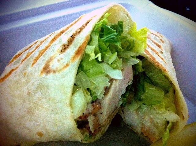 Chicken Caesar wrap.   Get in my belly.   Pinterest