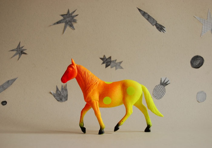 Image of ombré horse//the strange planet
