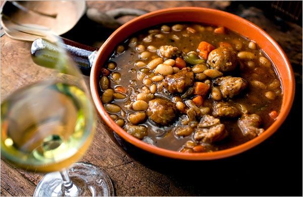 Beans, Flavorful Without Soaking - Herbed White Bean & Sausage Stew ...