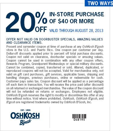 picture relating to Oshkosh Printable Coupon titled Nuts horse 3 discount coupons : Beaverton bakery coupon codes