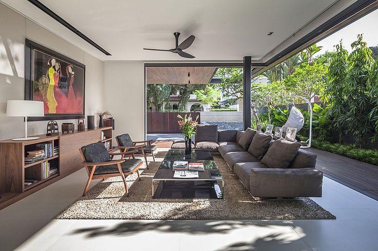 Phòng khách với ánh nắng tự nhiên