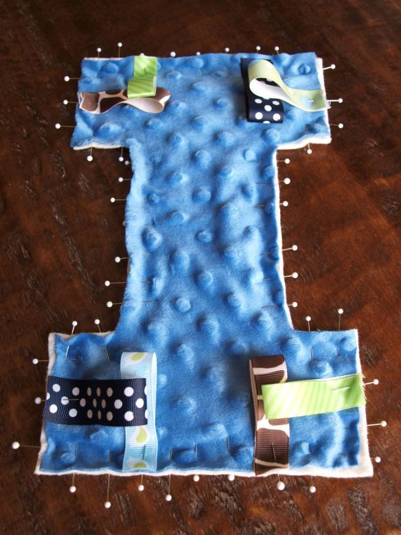 Baby Crinkle Toy: Pinning the ribbons | Baby Ideas | Pinterest
