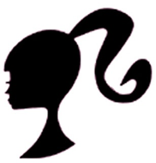 Barbie Head Pumpkin Stencil