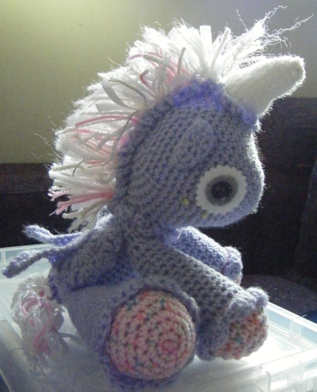 Crochet Unicorn : Crochet unicorn :) Crochet-animals Pinterest
