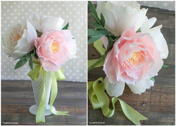 Цветы из гофрированной бумаги своими руками мк