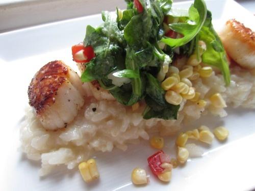 Seared Scallops With Lemony Farro And Arugula Salad Recipes ...