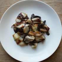 Sauteed Radicchio -- supposed to mellow the sharp flavor.