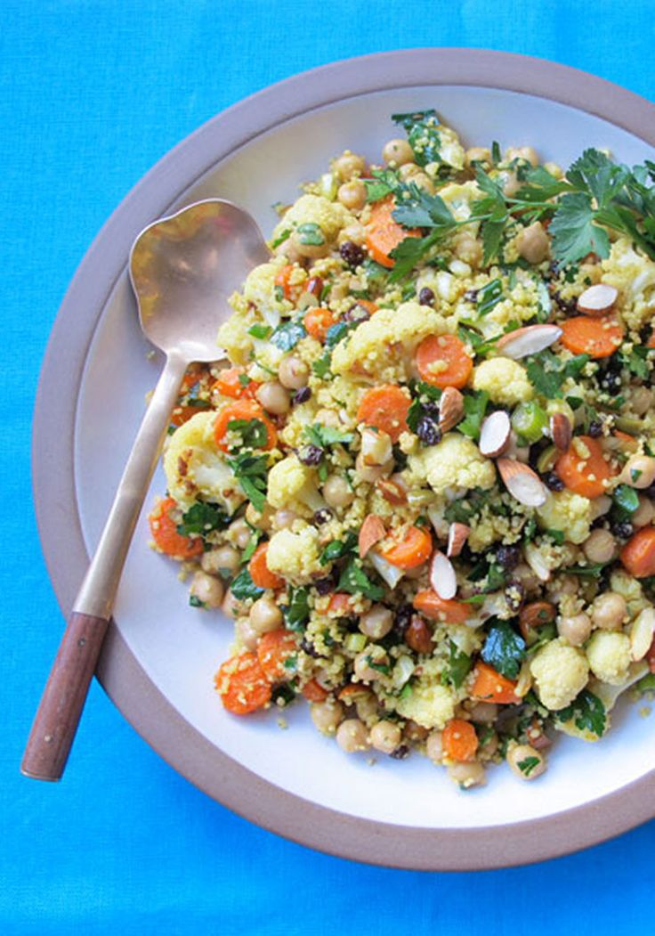 Moroccan-Spiced Roasted Cauliflower and Carrot Salad with Chickpeas a ...