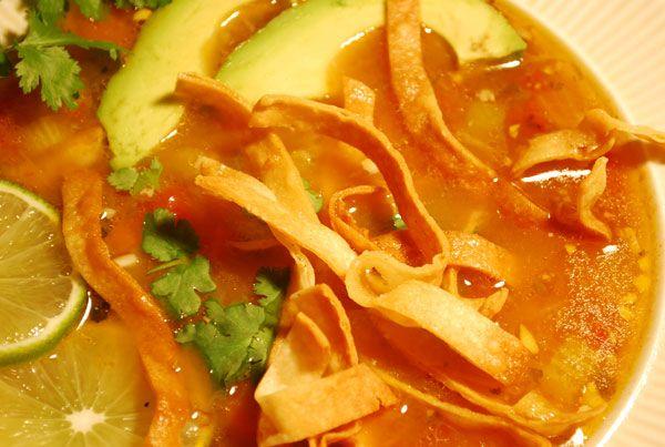 Mexican Tortilla Soup Recipe   Recipes   Pinterest