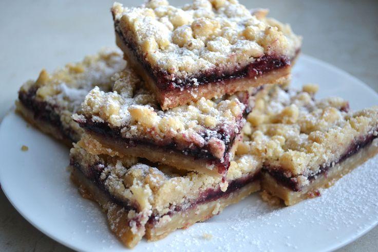 Blackberry Jam Shortbread Bars from Recipe Girl | Recipe