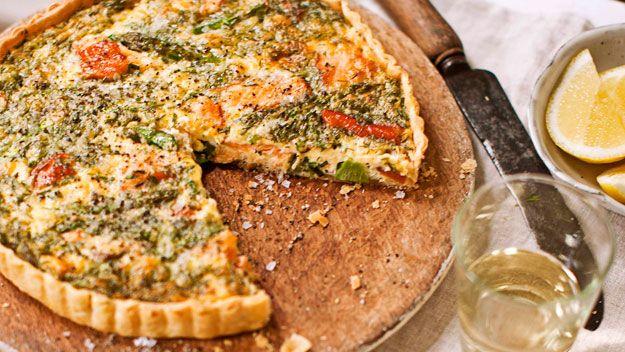 Smoked Salmon, Dill, And Goat Cheese Quiche Recipe — Dishmaps