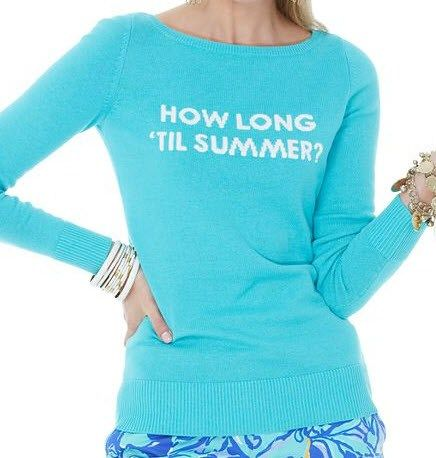 How Long 'Til Summer? @Lilly Pulitzer Sweater {this is basically my mantra}