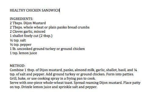 roberta heart heart of gold swanson heart healthy chicken sandwich ...