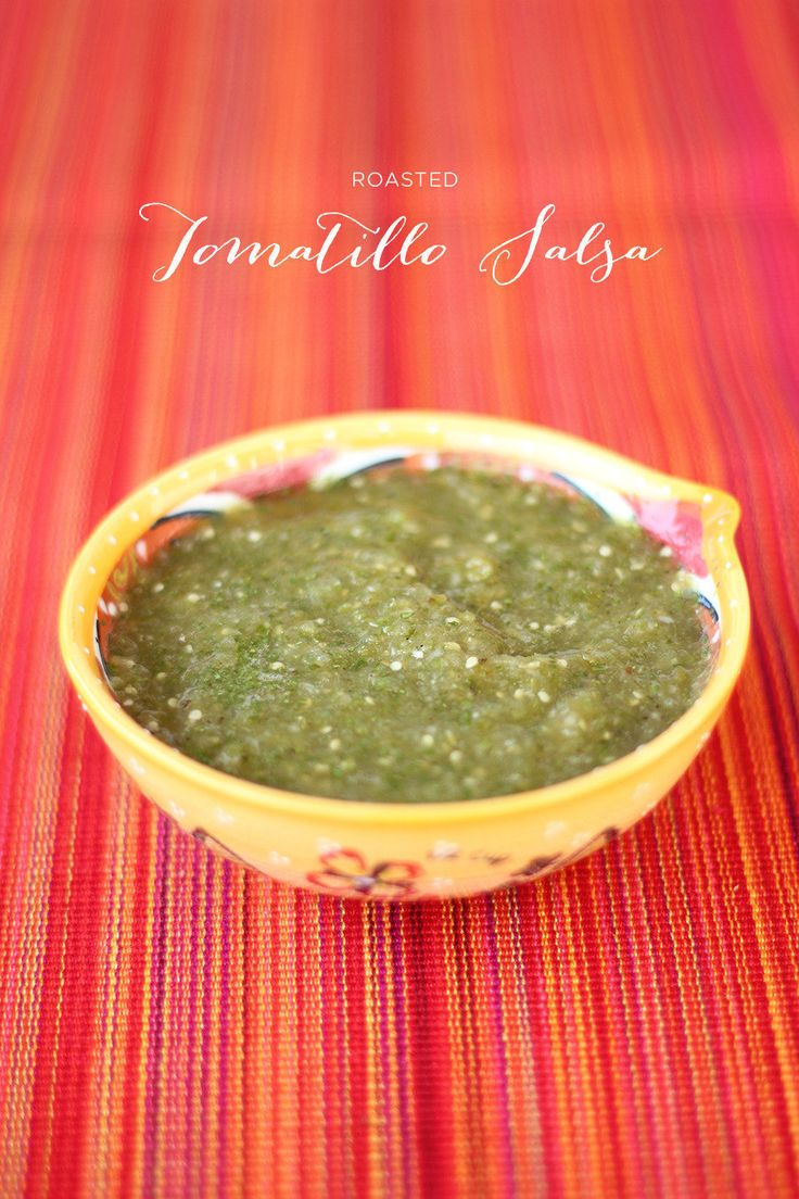 On the menu for this weekend's festivities - Roasted Tomatillo Salsa ...