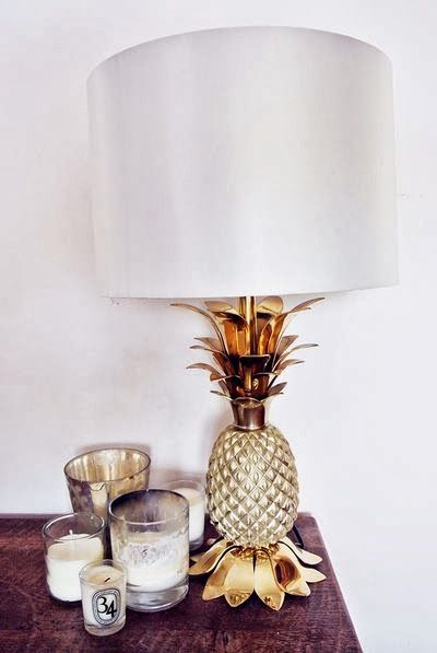 Pineapple lamp.