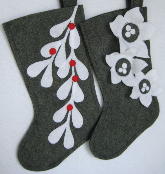 Modern christmas stockings by stitcholicious on etsy