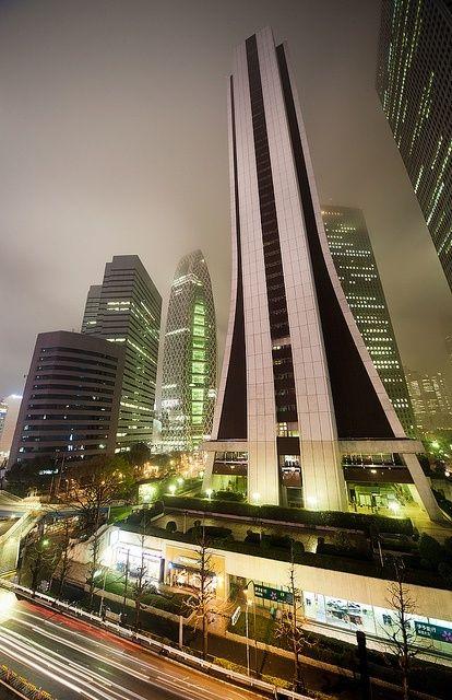 Shinjuku Skyscraper Tokyo Japan Arty Architecture