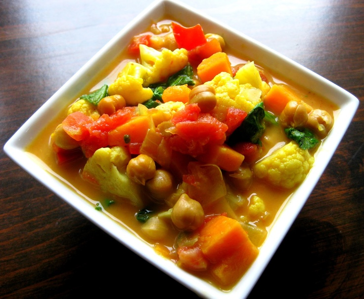 Curried Vegetable & Chickpea Stew {Slow-Cooker}