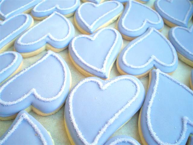 Simple and elegant shower wedding cookies