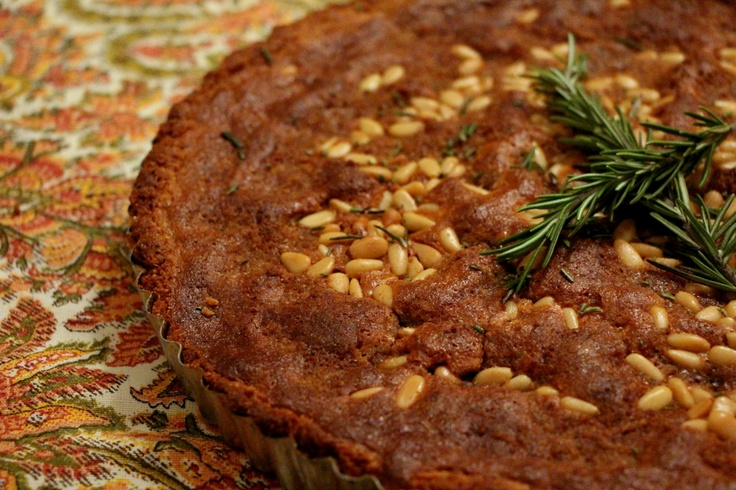 Rosemary, Pine Nut and Meyer Lemon Tart