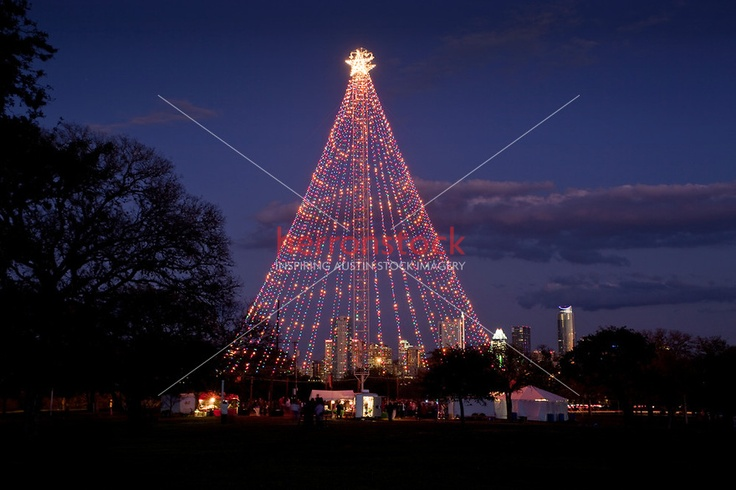 Zilker Park Christmas Tree Lighting as visitors gather to celebrate ...
