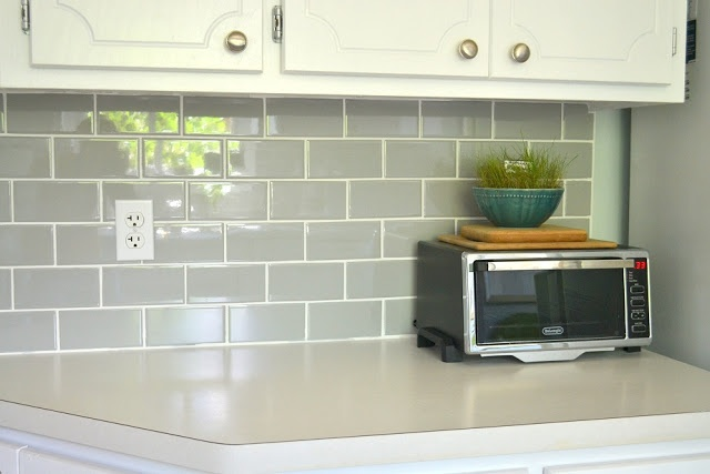 Grey Subway Tile For The Home Pinterest