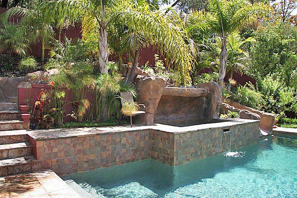 Above Ground Pool On A Sloped Backyard : sloped backyard