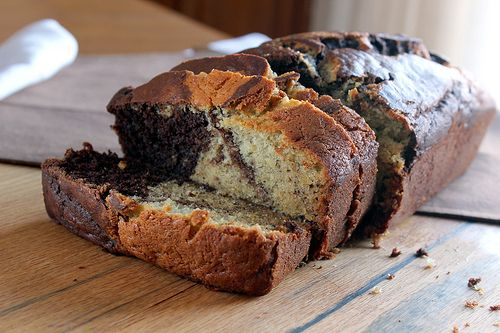 Chocolate Marbled Banana Bread | Breads | Pinterest
