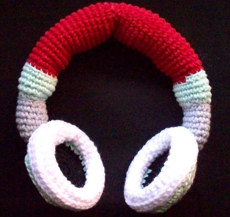 Free Crochet Earmuff Pattern : Crochet headphone ear warmers. Crochet Pinterest