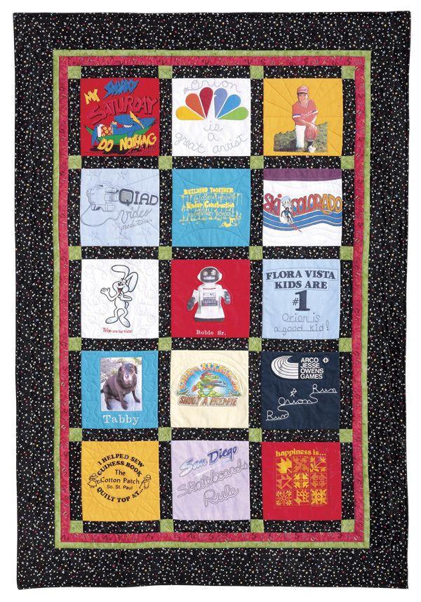 T Shirt Quilt Pattern Quilt Patterns Pinterest