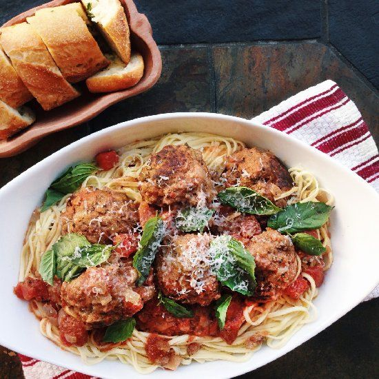 ... meatballs are moist and light thanks to the addition of fresh ricotta