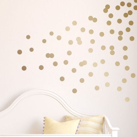 I liked this design on #Fab. Polka Dots Decal Gold