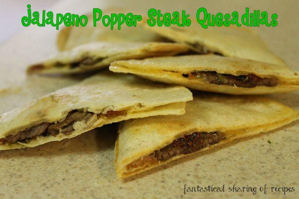 Jalapeno Popper Steak Quesdillas | Foods! | Pinterest