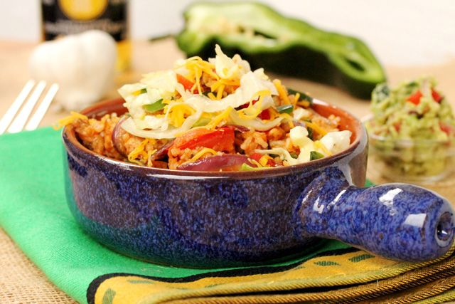 This Spicy Chicken and Rice Bowl has comforting ingredients with the ...